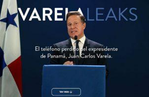 Se filtraron conversaciones del expresidente Juan Carlos Varela.