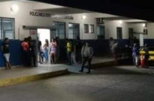 Jorge Antonio Romero Ramos, de 20 años, recibió  una herida en la espalda, con entrada y salida.