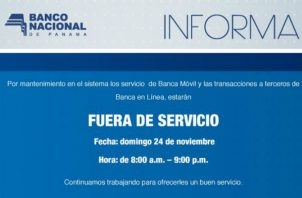 El Banco Nacional de Panamá cuenta con 88 sucursales y 254 cajeros automáticos en todo el país.