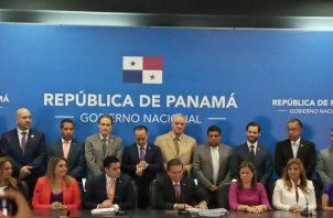 La conferencia de prensa se realizó en la sede de la Presidencia de la República. Foto: Cristabelis Toribio.