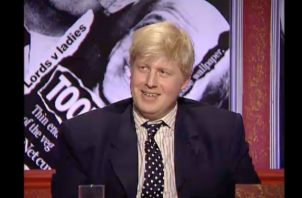 "Boris Johnson en ""Have I Got News for You"". Foto/ Hat Trick Productions."