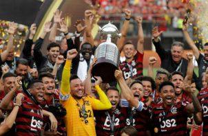 Flamengo celebró ante River Plate Foto EFE
