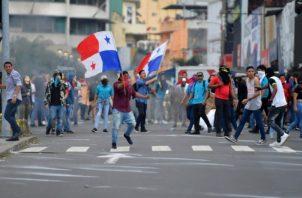 El rechazo a las reformas constitucionales generó una cadena de protestas que puso en 'jaque' al gobierno. Foto: Panamá América.