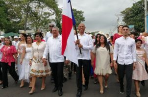 Mariano Rivera, fue designado como abanderado de la fecha por el Concejo Municipal. FOTO/Eric Montenegro