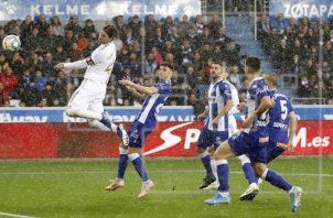Sergio Ramos marcó de cabeza Foto EFE