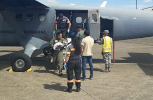 A bordo de la aeronave AN-261 evacuaron a los trillizos prematuros. Foto: Cortesía/Senan.