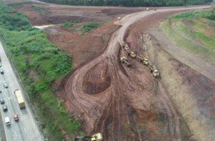Trabajos de ampliación de la carretera Panamericana.