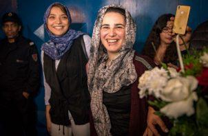 Hajar Raissouni, periodista crítica del Gobierno marroquí, fue arrestada por violar las leyes de aborto. Foto/ Fadel Senna/Agence France-Presse — Getty Images.