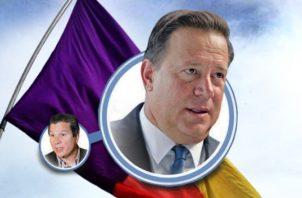"""""""Popi"""" y Juan Carlos Varela en el escrutinio hasta de su propio partido."""