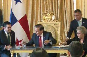El acto se realizó en el Salón Amarillo de la Presidencia de la República. Foto: Presidencia.