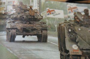Las tropas norteamericanas se tomaron calles, avenidas y poblados durante la invasión a Panamá el 20 de diciembre de 1989. Foto: Archivo
