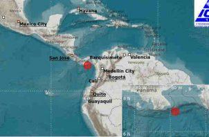 Reportan sismo en el sur de Panamá.