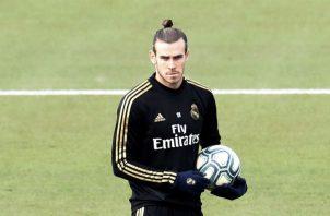 Gareth Bale durante el entrenamiento dominical del Real Madrid. Foto EFE