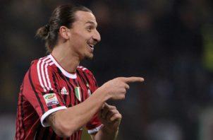 Zlatan Ibrahimovic jugó dos temporadas en el Milan Foto AP