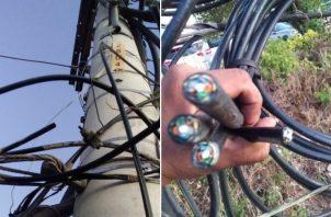 Cable Onda publicó en Twitter las pruebas del vandalismo que sufrieron por parte de delincuentes.