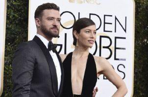 Justin Timberlake y Jessica Biel.  AP