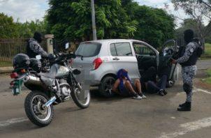 Fueron aprehendidos próximo a la barriada Los Abanicos, Foto: José Vásquez.
