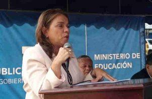 Ministra de Educación, Maruja Gorday de Villalobo. Foto/Belys Toribio