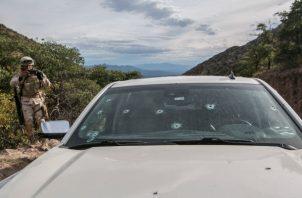 Los mexicanos temen incursiones de EE. UU. si los cárteles de la droga son declarados grupos terroristas. La escena de una emboscada en que murieron nueve mujeres y niños. Foto/ Meghan Dhaliwal.