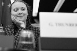 Greta Thunberg en la Comisión de Medio Ambiente del Parlamento Europeo, en abril de 2019. Foto: EFE.