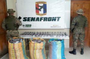 El cargamento del presunto antibiótico fue ubicado por unidades de la Región Caribe. Foto: Cortesía.