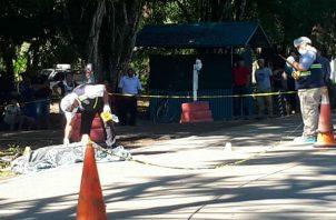 Colisionó con un vehículo articulado tipo mula en Finca Ceiba en el corregimiento de Manaca. Foto: Mayra Madrid.