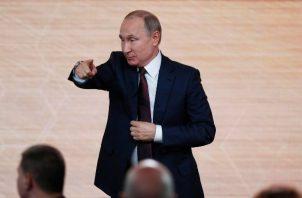 Un total de 1.895 periodistas acudieron a la conferencia en la que Putin analiza los principales acontecimientos en el país y a nivel global en 2019. FOTO/EFE