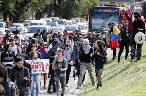 """Gatuso también criticó las acusaciones de la policía que implican a este movimiento con el """"Foro de Sao Paulo"""" o infiltraciones de guerrillas u otros grupos armados en las universidades."""