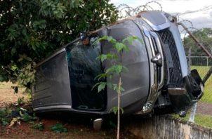 El choque fue entre una camioneta y un vehículo pick up. Foto: José Vásquez.