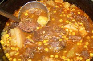 Ajiaco, un estofado de tasajo. Mire qué otros ingredientes lleva.  Cortesía