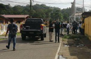 El vehículo que manejaba la víctima era alquilado, un auto sedán, marca hyundai, color gris. Foto: Diómedes Sánchez S.