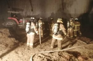 La rápida acción de los bomberos evitó que el incendio se propagara. Foto: Thays Domínguez.
