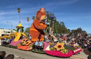 """El tema de este año del desfile de las Rosas fue """"El poder de la esperanza"""". FOTO/AP"""