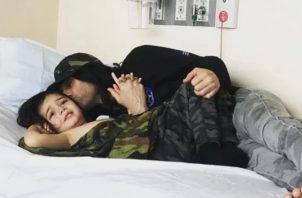 Criss Angel y su hijo.