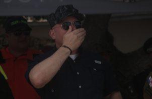 Rolando Mirones, ministro de Seguridad, se ha mantenido activo en participaciones públicas y abordando el tema de la masacre. Víctor Arosemena.