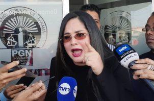 Zulay Rodríguez presentó una querella penal contra el fotógrafo Mauricio Valenzuela. Foto: Víctor Arosemena.