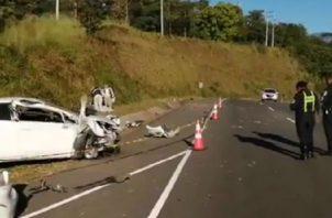 Se presume que el fallecido no cargaba puesto el cinturón de seguridad. Foto: José Vásquez.