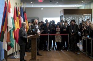 El secretario general de la ONU, António Guterres, el pasado lunes había solicitado que se bajara escalada, de violencia y que imperara el diálogo. FOTO/EFE