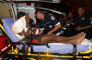 Los heridos por la masacre en La Joyita fueron trasladados a diferentes hospitales.   Foto Alexander Santamaría