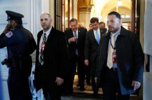 Mike Popeo, secretario de Estado y Mark Esper, secretario de Defensa de Estados Unidos. FOTO/AP