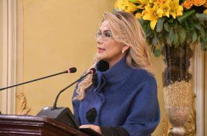 """El pueblo no quiere enfrentamientos entre bolivianos sino más bien buscar una salida democrática e ir a las urnas este 3 de mayo"""", agregó el ministro de la Presidencia, Yerko Núñez. FOTO/EFE"""