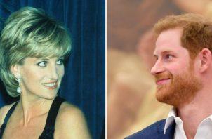 Príncipe Harry y la princesa Diana.