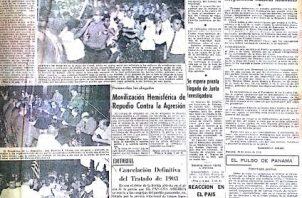 Copia de la portada del diario Panamá América, viernes 10 de enero de 1964.