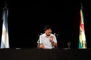 El expresidente Evo Morales se encuentra como refugiado en Argentina.
