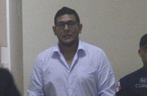 Jesús Varela, a su llegada ayer al Sistema Penal Acusatorio.  Foto Edward Santos