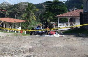 El hombre recibió al menos cinco disparos que le dieron en la cabeza. Foto: Diómedes Sánchez S.