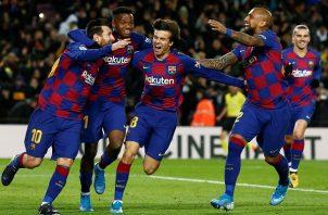 Messi le dio los tres puntos al Barcelona.