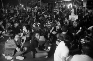 Una de las jornadas de protestas contra el paquete de reformas constitucionales en noviembre del año pasado. Foto: Víctor Arosemena. Epasa.