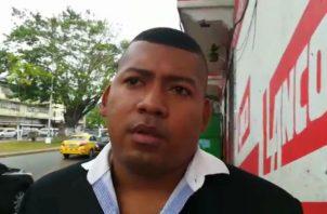 Manuel Terán, cabo segundo del Senafront, se pronunció a través de las redes sociales y noticieros en Colón. Foto: Diómedes Sánchez S. .