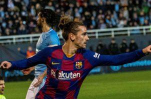 Antoine Griezmann evitó el ridículo del Barcelona ante el Ibiza  Foto EFE